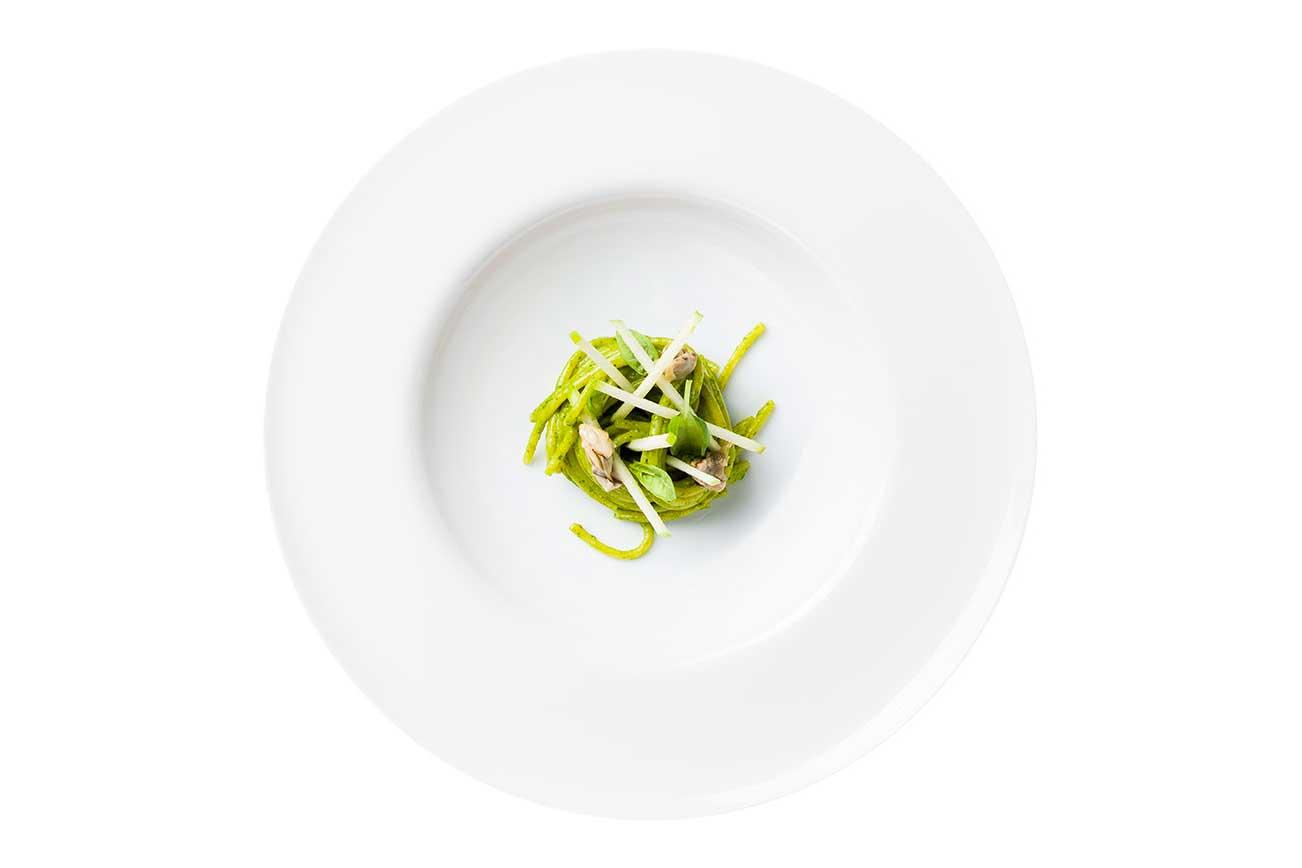 Ristorante stellato Lume - Spaghetti al Pesto