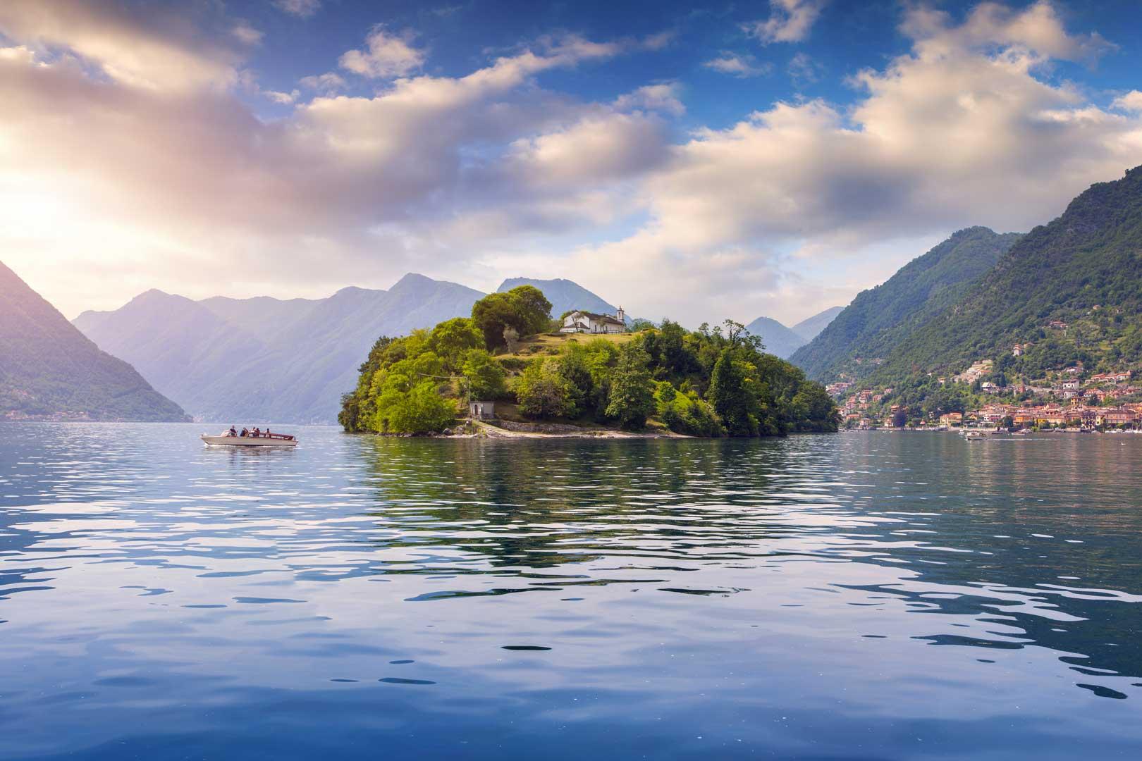 Lago di Como   Isola Comacina