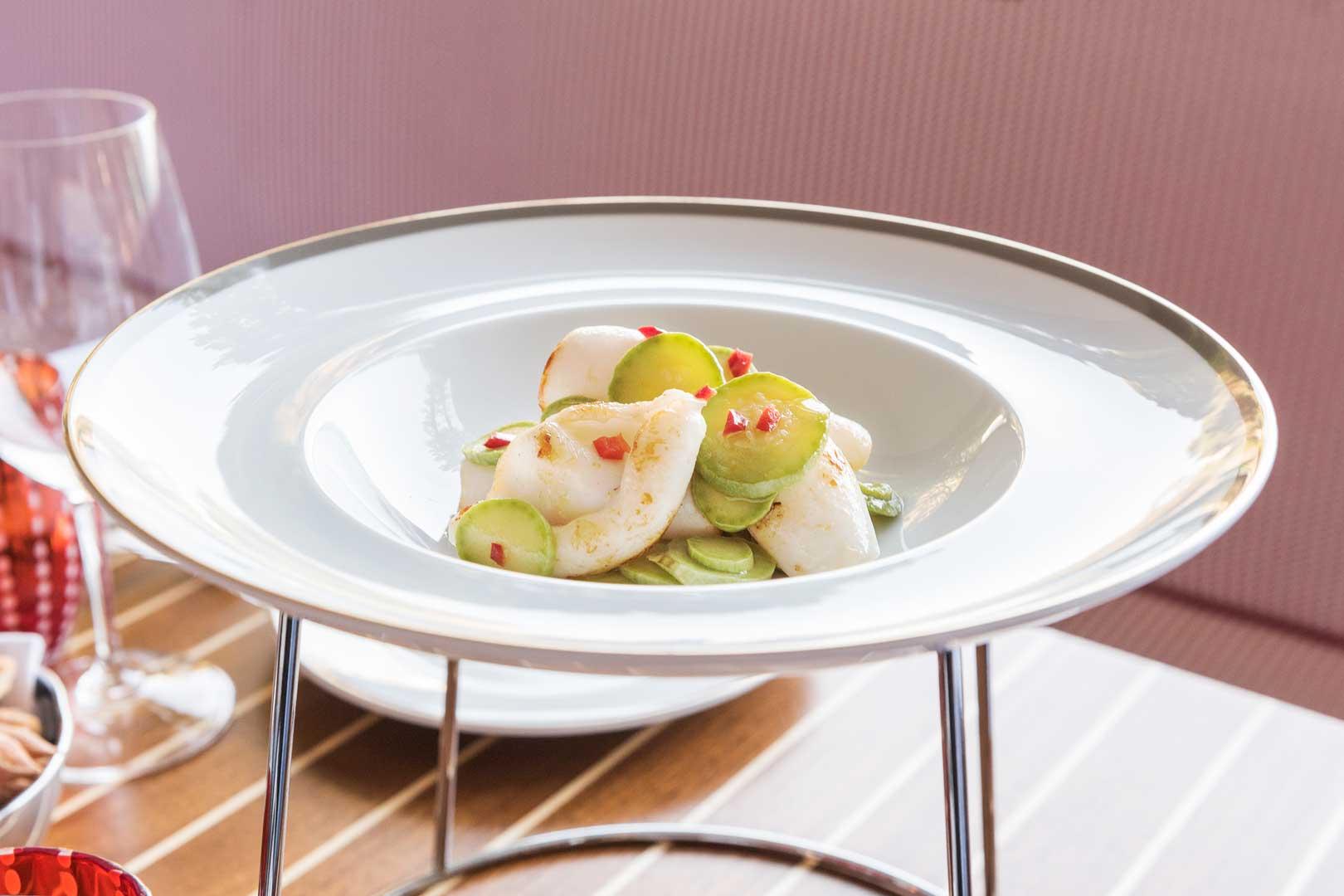 Langosteria Paraggi |Calamari scottati con zucchine