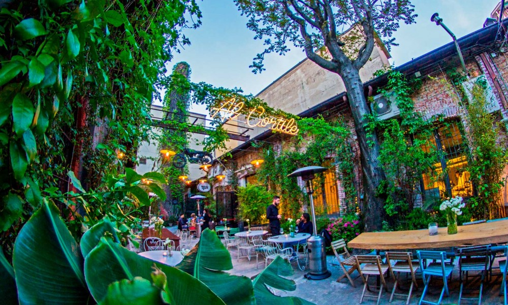 The best courtyard aperitifs in Milan