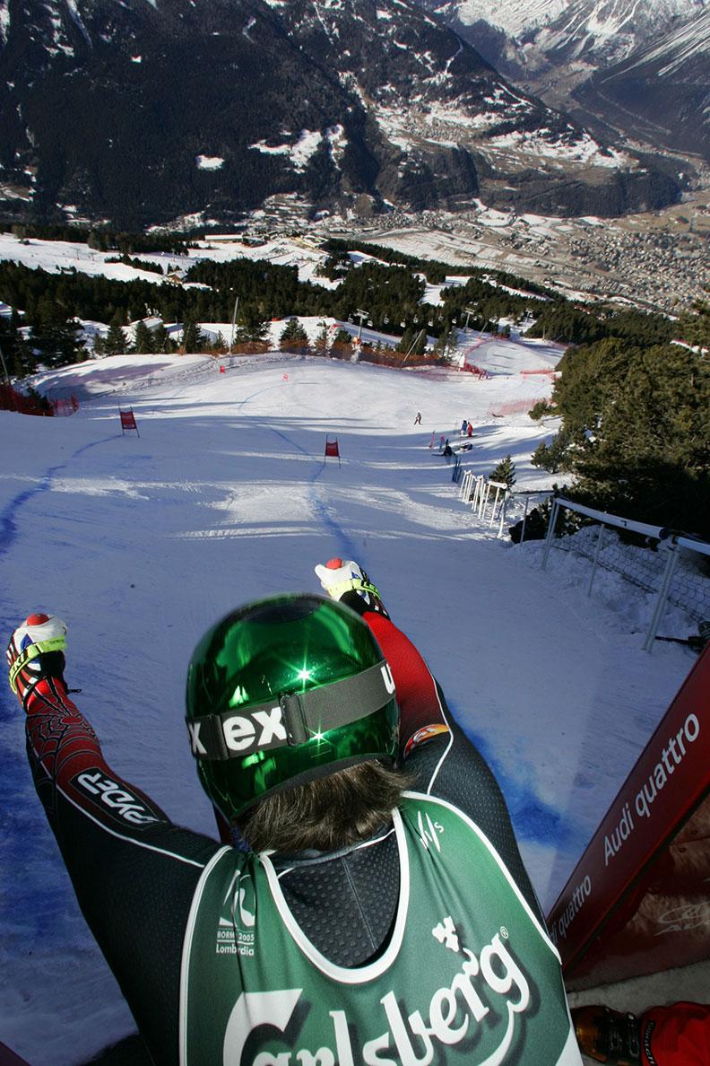 La pista dello Stevio - tappa della Coppa del Mondo di Sci